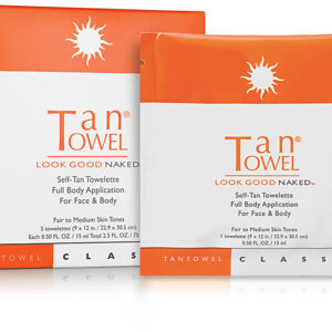 tan towel skin care products
